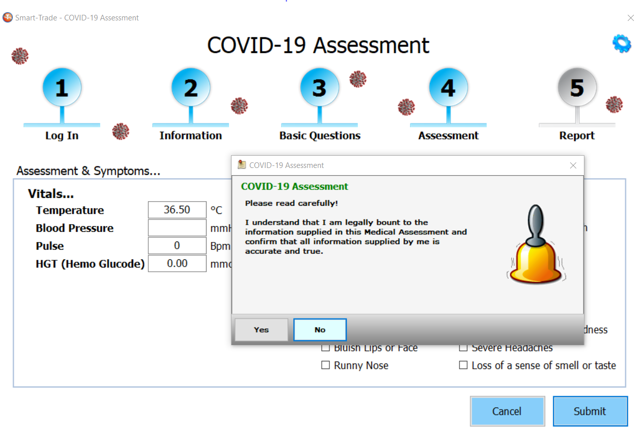 COVID-19 Assessment Confirmation